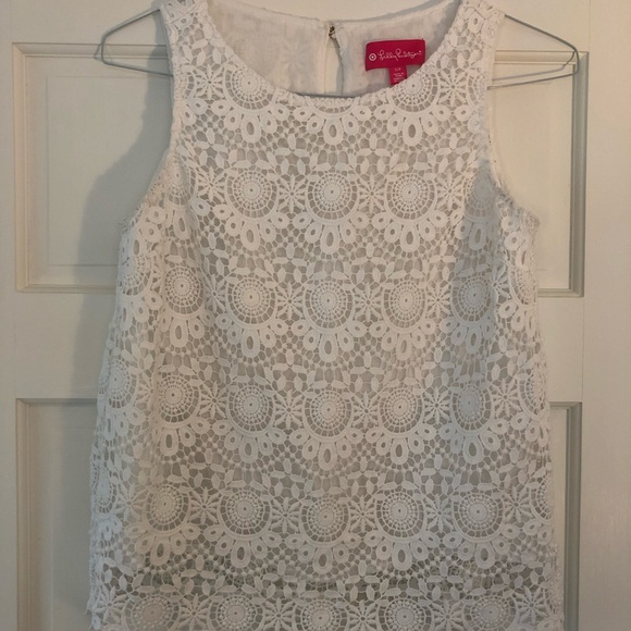 Lilly Pulitzer Tops - Lily Pulitzer X Target white lace tank top